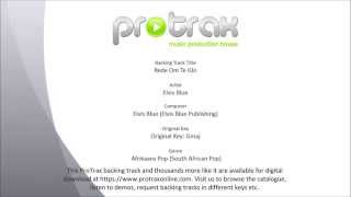Rede Om Te Glo – Elvis Blue – Backtrack Demo