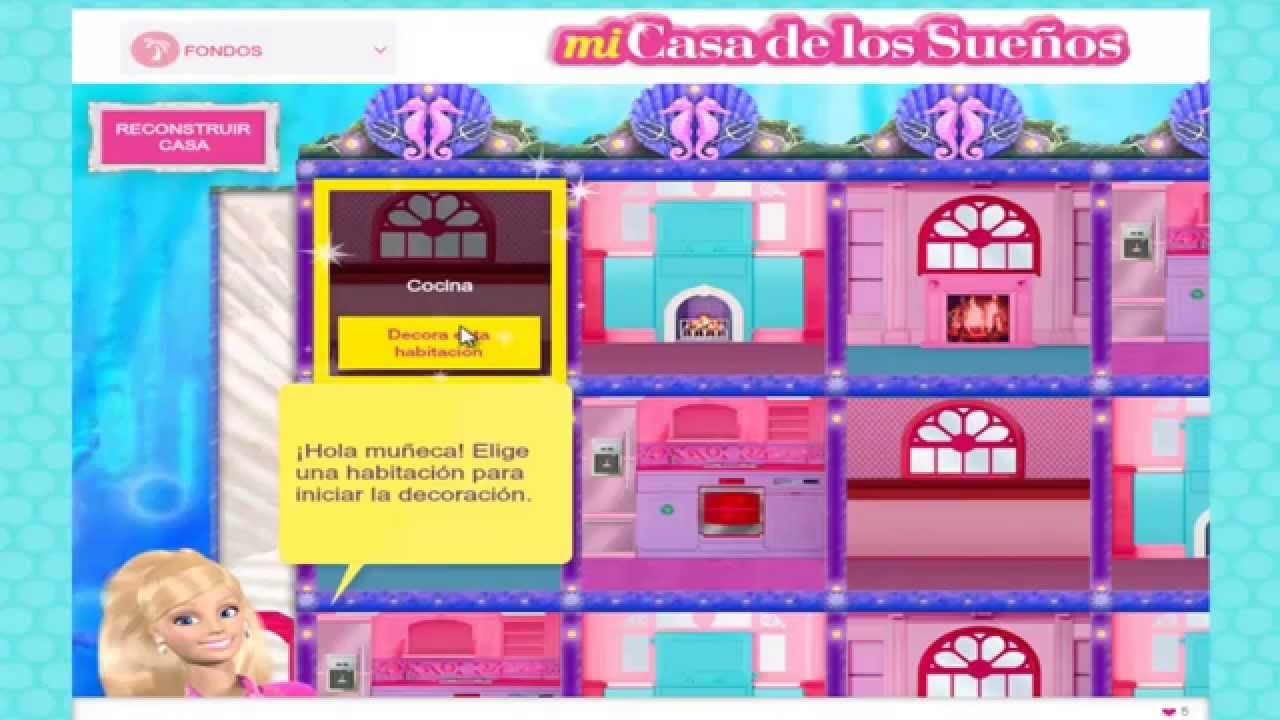 Barbie En Espanol Barbie Decora Su Casa Juegos Youtube