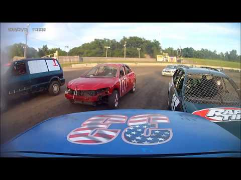 Dirt Track Enduro Car race. 6-8-2019. OCF Speedway Orange Crush