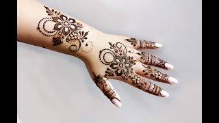 Khaleeji Heena Mehndi Design for Hand