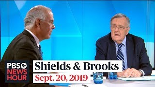 Shields and Brooks on the whistleblower complaint, Saudi oil attack