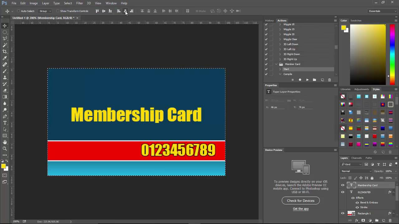 How To Create A Membership Card With Photoshop