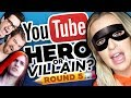 Drawing YOUTUBERS as HEROES & VILLAINS - ROUND 5!