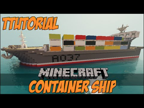 Minecraft Container Ship Tutorial / Cargo Ship / Freight Ship [PC, XBOX, PS and WII]