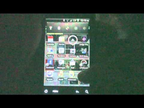 HTC Aria running (Liberated Aria Froyo 2.2 Series FR008 with Sense)