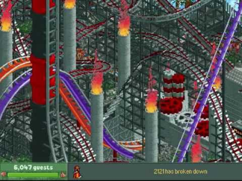 "Roller Coaster Tycoon 2: My Park ""VOLCANO"""