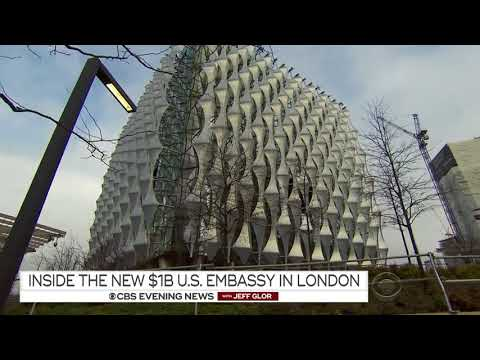 Super Secure High Tech 'Cube': Anglo-American Embassy in London $1B