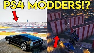GTA Online - MODDERS ON PS4 EXPLAINED! Players Spawning Giant Objects!