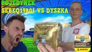 POJEDYNEK YOUTUBERÓW  SEBEQ19801 VS DYSZKA PANINI FIFA 365 2020 - PRZYJACIELSKIE STARCIE!!!