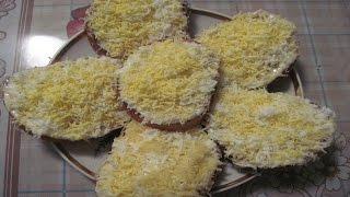 Гренки с сыром и вареным яйцом на праздничный стол или на завтрак