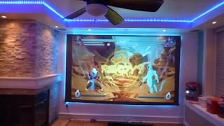 NEW Luminous ALR cinema paint gaming demonstration on just 720p  short throw