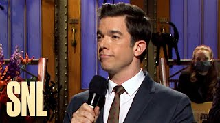 John mulaney talks about new york governor andrew cuomo's coronavirus briefings, the 2020 election and his grandmother., saturday night live. stream now on peacock: https://bit.ly/3j1iruk, subscribe ...