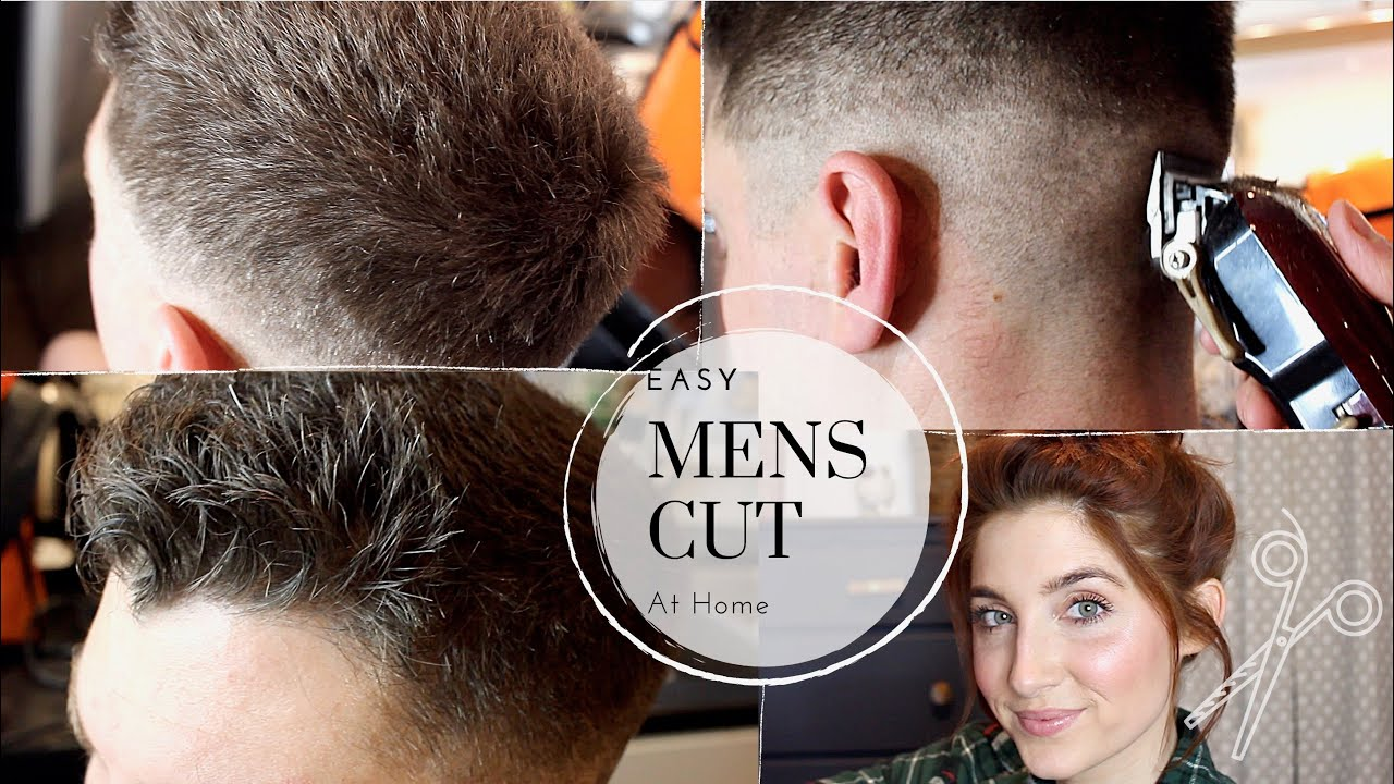 HOW TO CUT MENS HAIR AT HOME/ EASY MENS HAIRCUT TUTORIAL