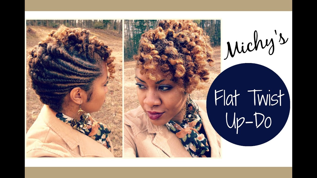 Flat Twist Updo Requested Naturally Michy Youtube