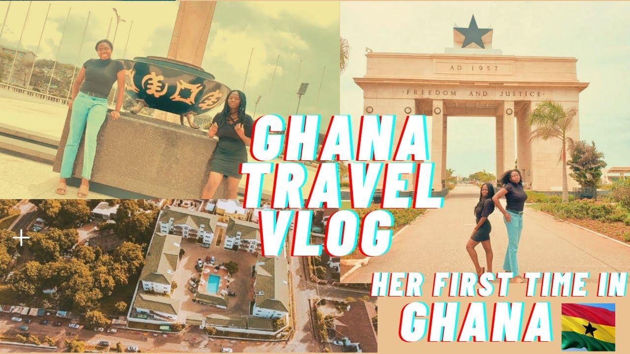 Ghana Travel Vlog: My Nigerian friend first time in Ghana(Ride along w Us)