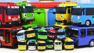 꼬마버스타요 큰버스 작은버스 시티버스  차고지에 들어가면 놀라운 일이 생긴다