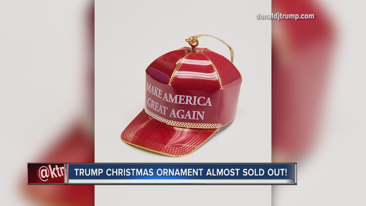 make america great again christmas ornament sells thousands worldwide