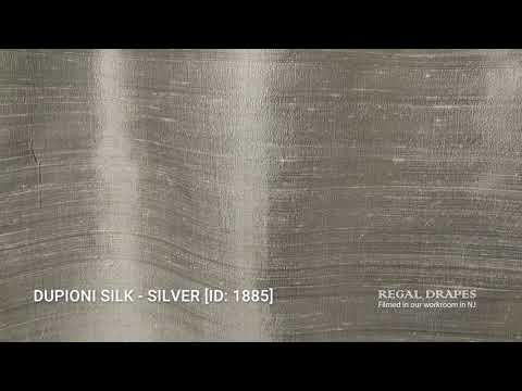 DUPIONI SILK - SILVER [ID: 1885]
