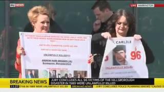 Families Leave The Hillsborough Inquest