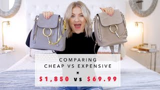 Comparing CHEAP vs EXPENSIVE: Chloe $1850 vs Dupe $69.99