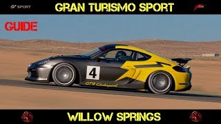 GT Sport - Willow Springs (GUIDE For Faster Lap Times)