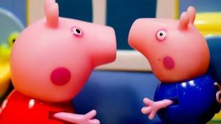 Мультики для детей Свинка Пеппа и Снег. Peppa Pig Игрушка Пэпа и ее семья 2016