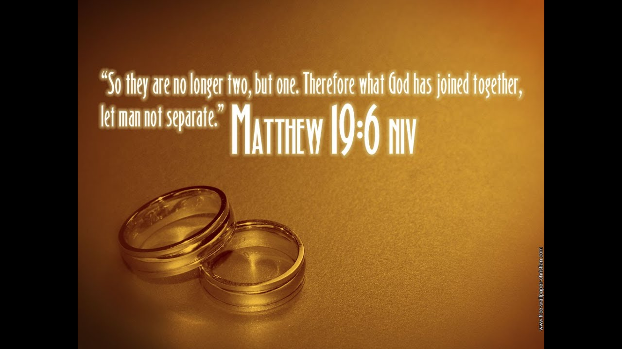 Bible Quotes For Wedding Awesome Bible Verses About Marriage Or Wedding  Youtube