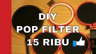Membuat Pop Filter Microphone Harga [ 10 RIBU ] Untuk Home Recording