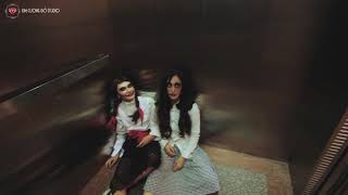 Annabelle  Prank - Dọa ma búp bê trong thang máy -  Scared ghost doll in the elevator