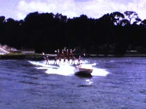 Cypress Gardens FL Water Skiers Early 70s Home Movie Clips