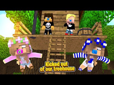 BULLIED OUT OF OUR TREEHOUSE! w/Little Carly (Minecraft Roleplay).