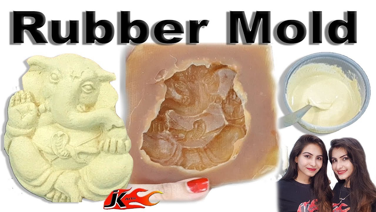 DIY How to use Rubber molds for murals - Ganesh Idol for Name Plate - JK  Arts 1469