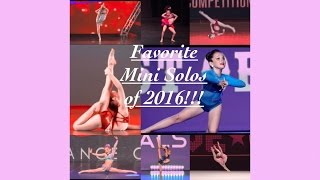 Fav Mini Solos Of The 2016 Season!