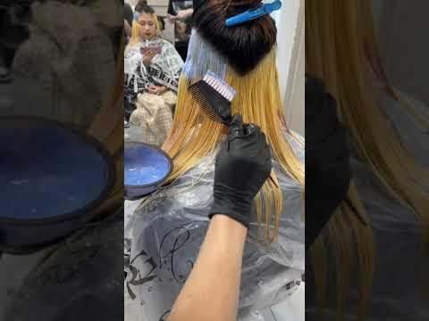 Nhuộm ẩn gáy xanh khói cho học sinh - Alin Hair Tv