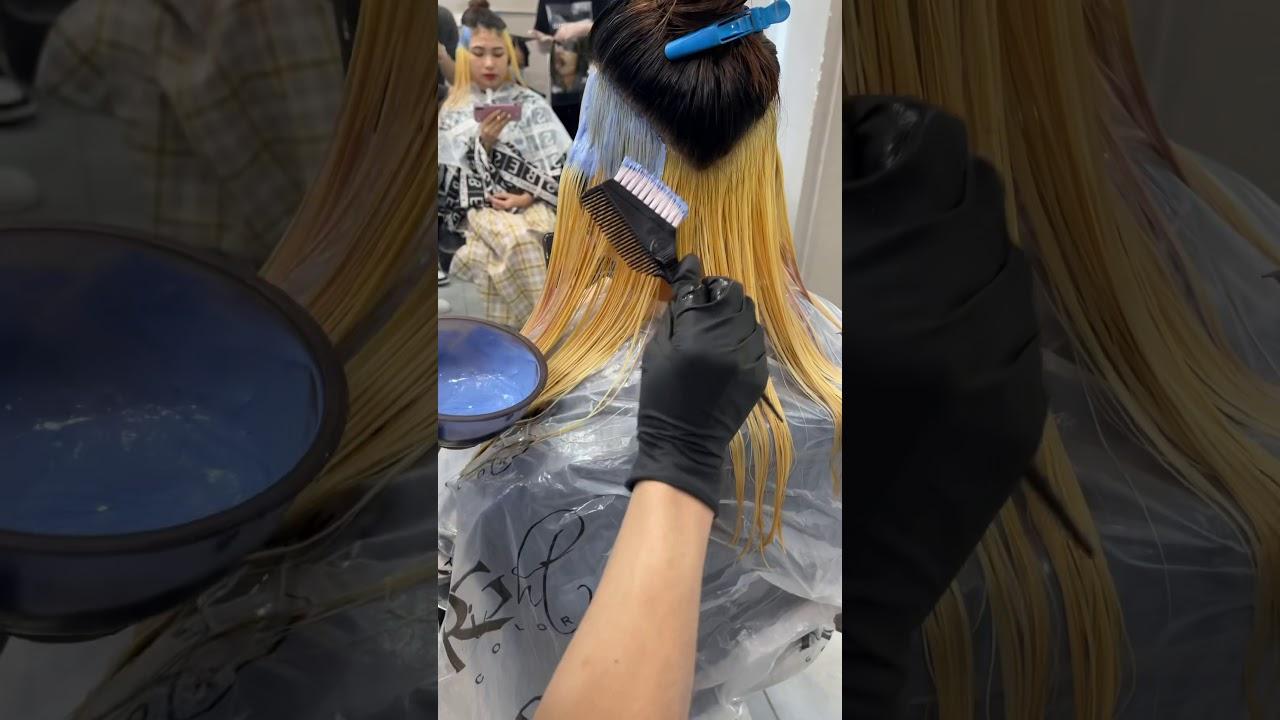 Nhuộm ẩn gáy xanh khói cho học sinh – Alin Hair Tv | Tổng hợp các nội dung về nhuộm tóc highlight nữ mới cập nhật