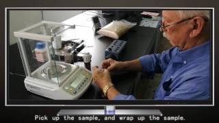How to weigh biomass sample for calorific value analysis
