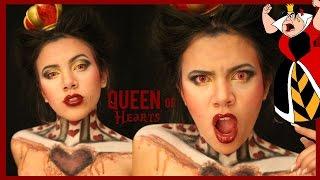 ♡♥ Queen Of Hearts ♣♧ Cool Halloween Makeup Tutorial