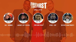 First Things First audio podcast (4.2.19) Cris Carter, Nick Wright, Jenna Wolfe   FIRST THINGS FIRST