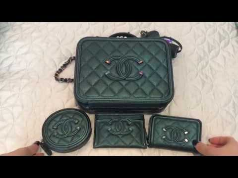 38b112e63dcb MY CHANEL 18B FILIGREE DARK TURQUOISE WITH RAINBOW HARDWARE COLLECTION