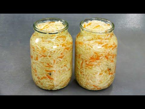 Квашеная капуста  Вкусная и ХРУСТЯЩАЯ  Delicious Sauerkraut