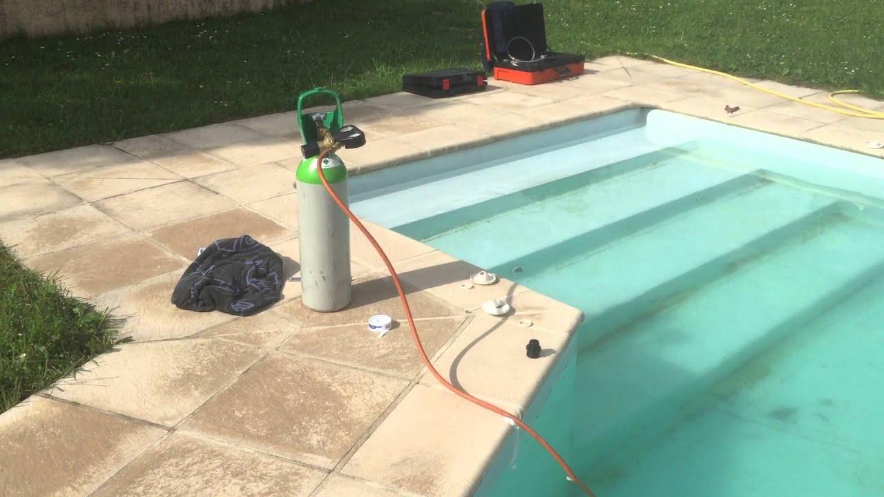 Recherche de fuite piscine par gaz traceur youtube for Piscine 10 par 5