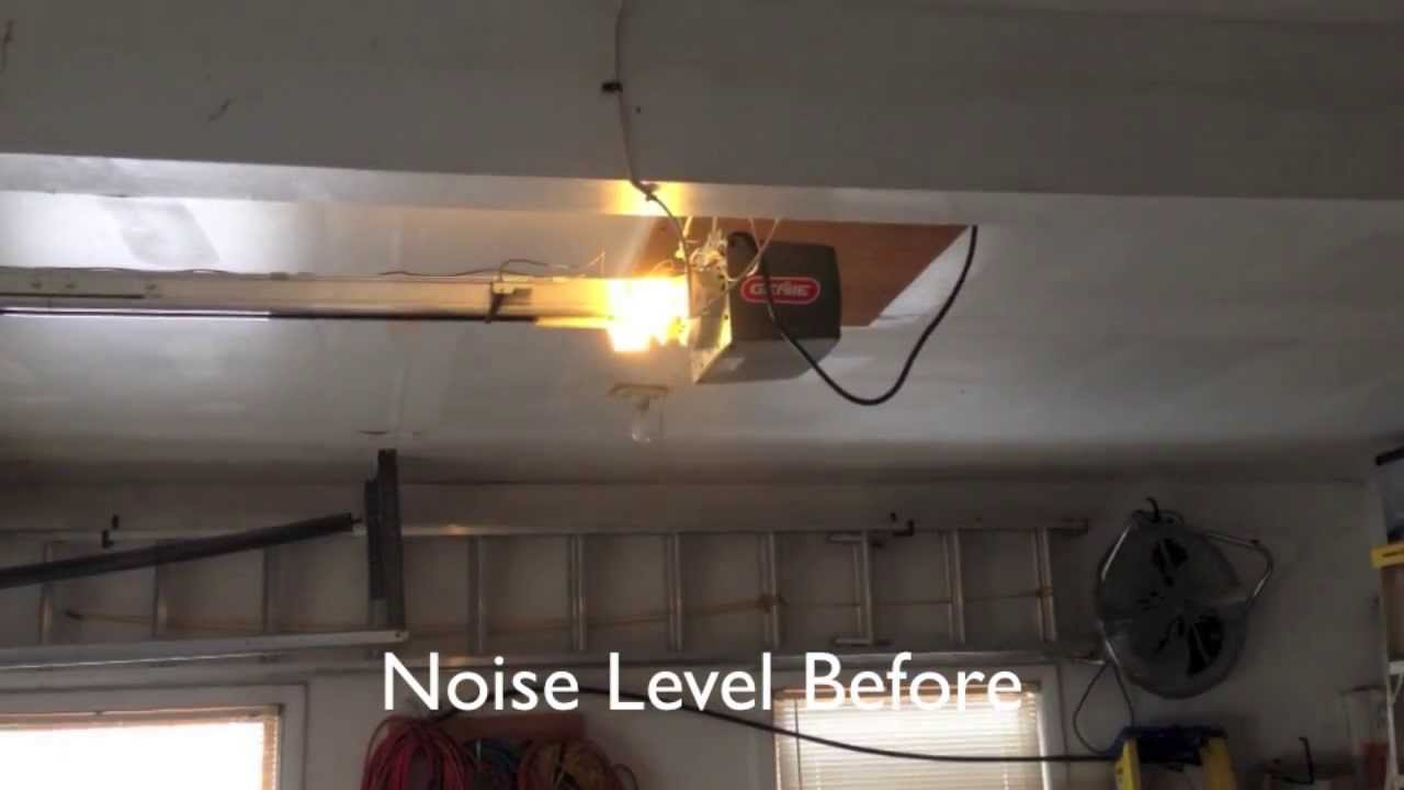 How To Silence A Noisy Genie Garage Door Opener Youtube