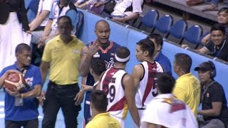Tension between Nabong and Santos | Philippine Cup 2015-2016