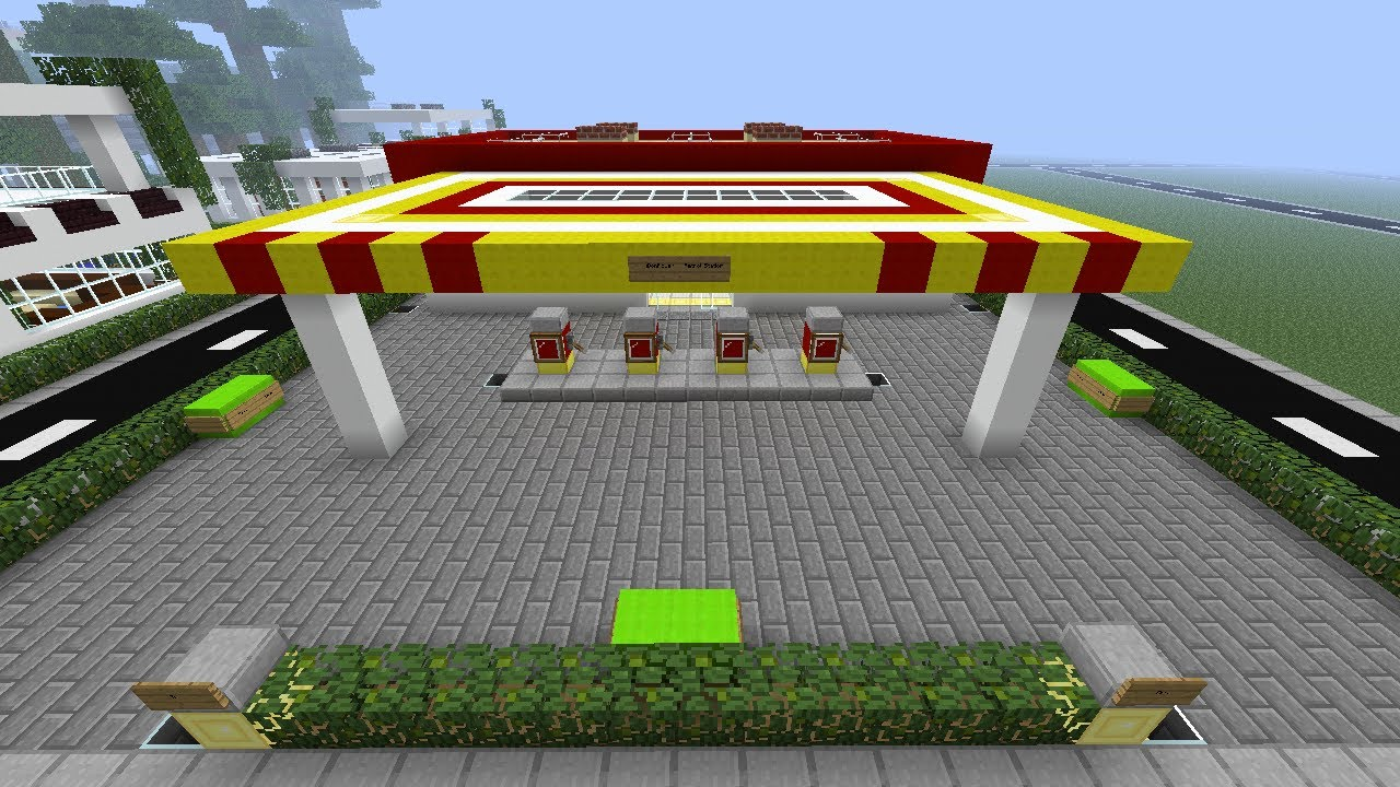 Find A Gas Station >> Minecraft iDonPower Petrol Station - YouTube