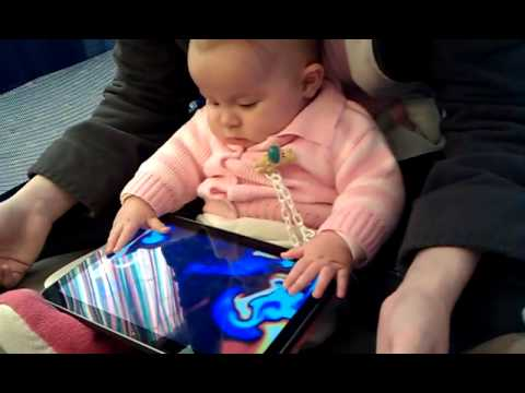 Our baby girl likes high-tech :))