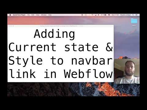 How to Add Current state and Style to navigation links in Webflow