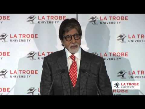 Amitabh Bachchan speaks at La Trobe University