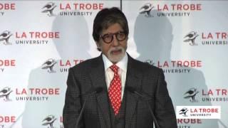 Amitabh Bachchan speaks at La Trobe University
