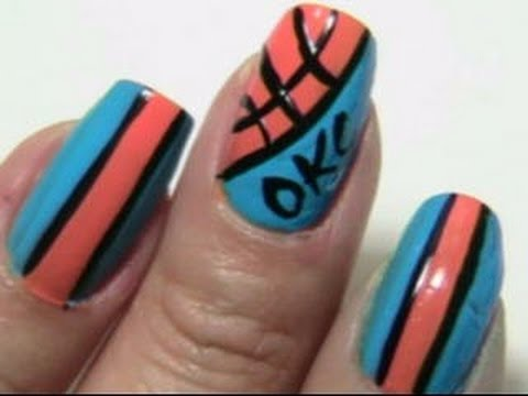 Thunder up nails oklahoma city national basketball inspired thunder up nails oklahoma city national basketball inspired prinsesfo Image collections
