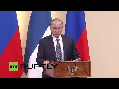 LIVE: Putin holds press conference with president of Finland Sauli Niinisto